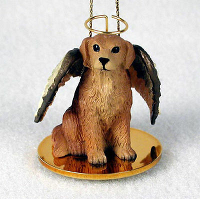 Golden Retriever Dog Figurine Angel Statue