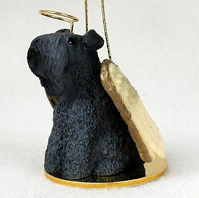 Kerry Blue Terrier Ornament Angel Figurine Hand Painted