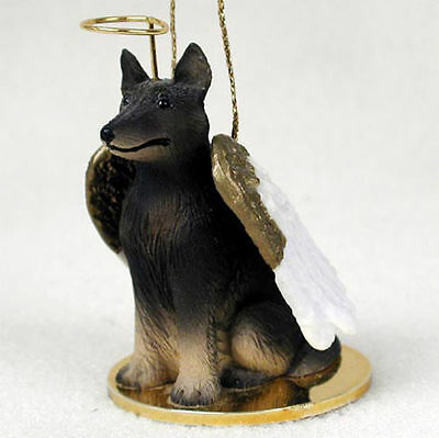 Belgian Tervuren Dog Figurine Angel Statue