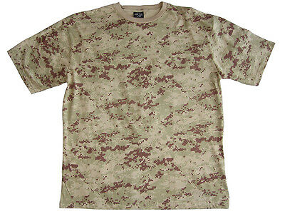 AMERICAN US ARMY DIGITAL DESERT CAMOUFLAGE T-SHIRT - All Sizes Military Top New