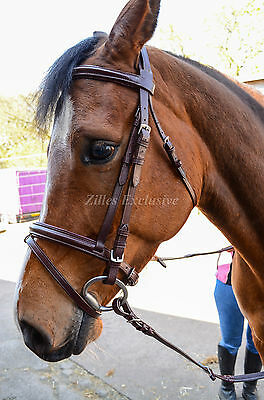 Comfort Padded Leather Bridle With Rubber Reins.quality Bridle With Low Price
