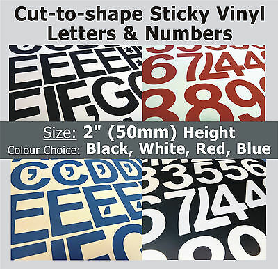 """79 x Sticky Letters and Numbers 2"""" , Self-Adhesive , Plastic Vinyl Lettering"""