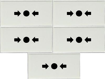 1 Pack of 5 Replacement Break Glass for Fire Alarm Call Points