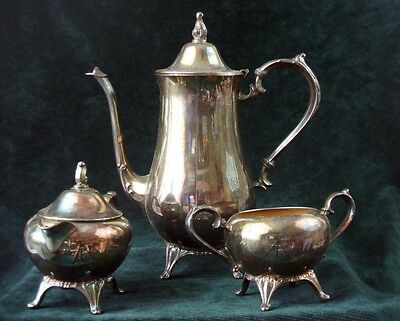 Vintage - Silverplated - Coffee Set - WM A ROGERS