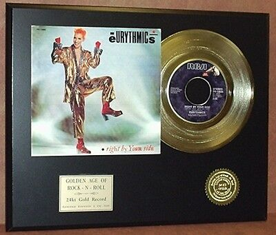 Eurythmics Right By Your Side 24k Gold Record Limited Edition Free USA Shipping