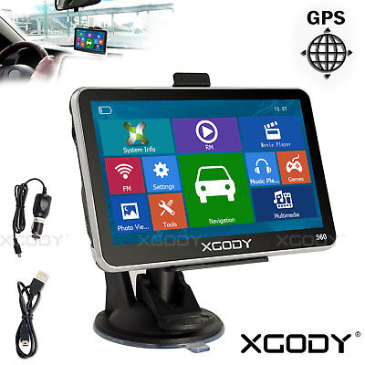 """5"""" Car GPS Navigation Touch Screen FM Mp3 Mp4 New Map Built-in 4GB WinCE 6.0"""