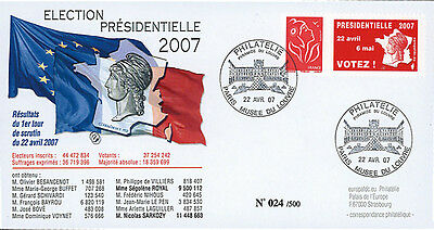 "EP07-1 FDC ""France 2007 Presidential Election - 1st ROUND"" Paris Louvre Museum"