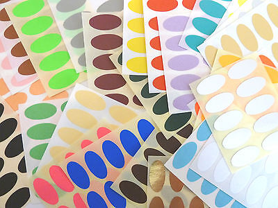 Small 25x12mm Oval Colour Code Stickers Coloured Sticky Labels - 28 Colours
