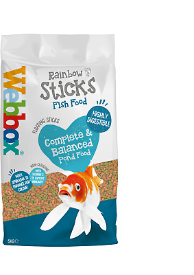 Webbox Rainbow Sticks Floating KOI CARP & Pond Fish Food - 5kg 10kg 20kg