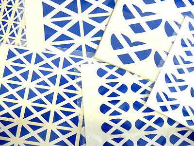 Scotland Flag Stickers Scottish St Andrews Labels - Various Shapes & Sizes