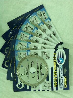"(6) New 4"" Diamond Saw Blades Turbo Granite Marble Tile Masonry Free Shipping!"