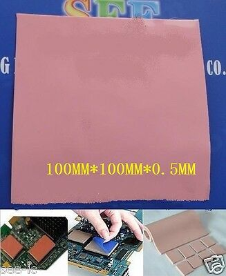Thermal Pad 100×100×0.5 High Conductivity Heatsink Compound Pad Red/Pink