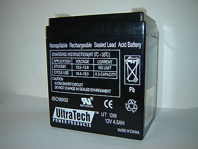 12V 4Ah Security System Backup Battery