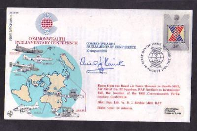 Parliamentary Conference 1986 - Signed - RAF