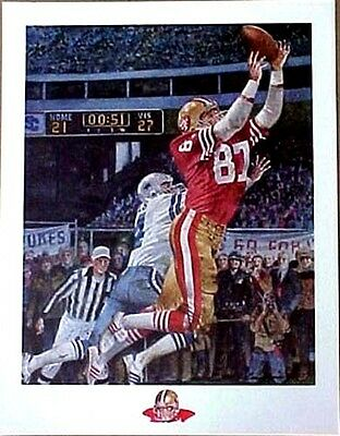 """DWIGHT CLARK SAN FRANCISCO 49ers """"THE CATCH""""  LITHOGRAPH BY MERV CORNING"""