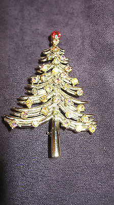 Dodds christmas tree pin brooch,C69