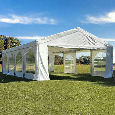 Quictent 4x8M Heavy Duty Party Wedding Tent Gazebo Marquee Canopy Carport White