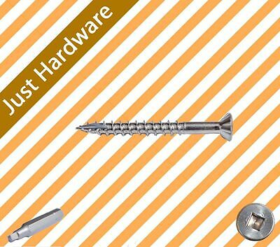 Stainless Steel 304 Decking Screws Screw Square drive 10G x 50mm 1000 PCS NEW!!!