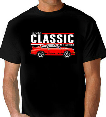 Porsche  911 Carrera    Black  T-Shirt   Men's Ladies Kids Sizes
