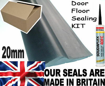 20mm GARAGE DOOR HEAVY DUTY FLOOR MOUNT THRESHOLD WEATHER SEAL DRAUGHT EXCLUDER