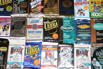 Great Lot of 100 OLD Unopened Hockey Cards In Packs