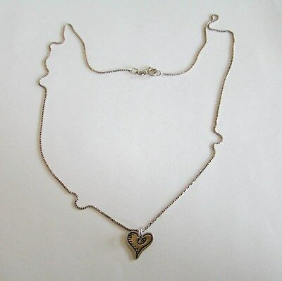 Sterling Silver Adorable Heart Pendant Necklace