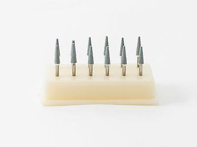 Dental Abrasive Polishing Finishing Mounted Stones Point Green FG Conical 12pack