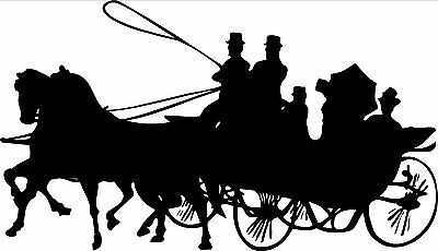 Pair of  Horse & Carriage Horsebox Decals1 metre long