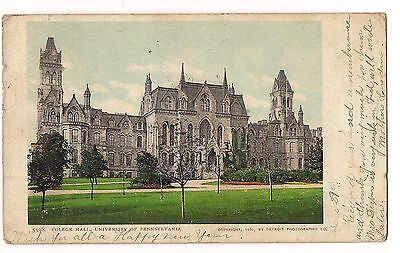 COLLEGE HALL University of Pennsylvania Undivided Back  POSTCARD FREE SHIP