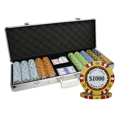 500pcs 14G MONTE CARLO POKER CLUB CLAY POKER CHIPS SET by MRC