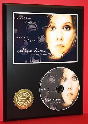 Celine Dion Limited Edition Picture Cd Disc Rare Collectible  Music Display