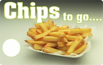 Take away  Chips tray catering stickers  for trailer cafe chip shop restaurant