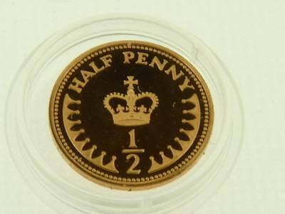 Royal Mint proof decimal 1/2p coin 1971 to 1984  half penny