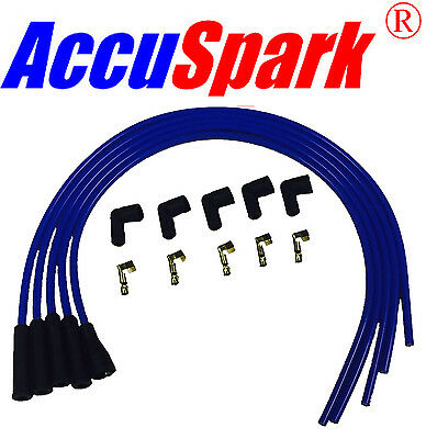 AccuSpark 8mm performance Silicone HT leads in Blue for  4 cyl cars (S/90ends )