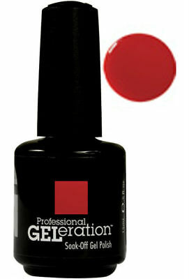 Jessica Geleration Soak-off Gel Nail Polish Royal Red #120 0.5oz