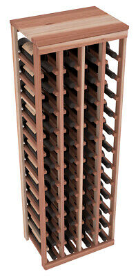 48 Bottle Kitchen Wine Rack Kit in Premium Redwood. Hand Crafted in the USA.