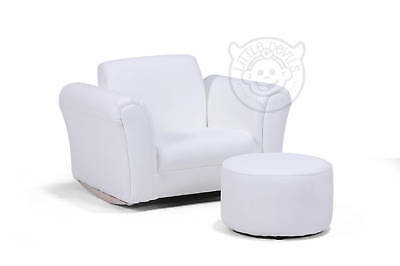 WHITE LAZYBONES KIDS ROCKING Chair/Seat/Armchair/Sofa for Childrens/Childs