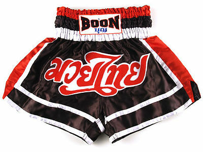 Boon Muay Thai Red Black White Shorts Boxing - New