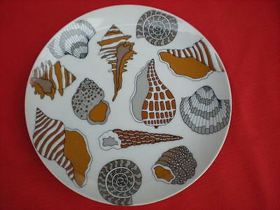 """FITZ AND FLOYD SHELL SALAD / BREAD / SIDE PLATE 7-1/8"""""""