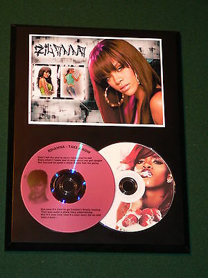 Rihanna - Take A Bow - Picture Disc & Laser Etched Lyrics CD - USA Ships Free