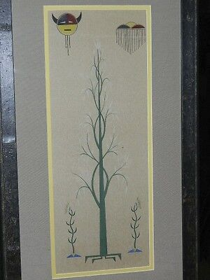 Vintage Native American Painting by Unsigned Artist