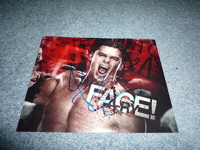 ALEX RILEY signed Autogramm 20x25 In Person WWE RAW Wrestlemania Revenge Tour