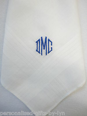 Personalised Handkerchief - Mens - Gents Handkerchief