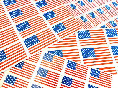 USA Self-Stick Flag Labels Self-Adhesive United States of America Flag Stickers