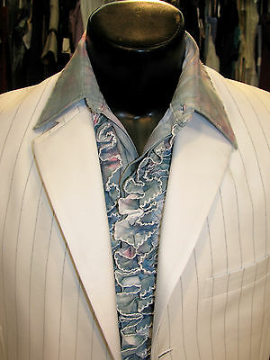 """Mens Vintage Ruffled Tuxedo Shirt Tie-Dye 15 X 34 #91 """"great For Party/halloween"""