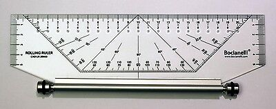 250mm 25cm Professional Metric Parallel Rolling Ruler Rule Drawing Glider Leniar