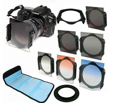 ND2/ND4/ND8 + 82mm Ring Adapter + Graduated Orange/Blue Filter f Cokin p series