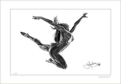 Nude Female Gymnast   Drawing      Limited Edition