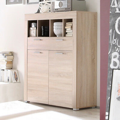 sideboard boom kommode sonoma eiche hell wohnzimmer schrank esszimmer anrichte eur 239 99. Black Bedroom Furniture Sets. Home Design Ideas
