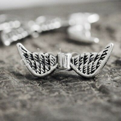 80 Pcs Tibetan Silver Wing Spacers Bead Findings TS0848